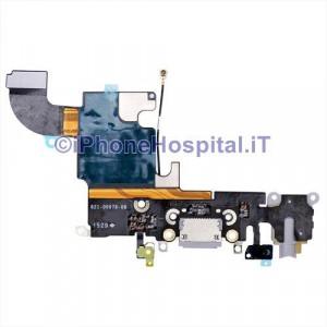 Connettore Ricarica Jack Cuffie Microfono Flat Antenna Grigio Scuro iPhone 6S - 821-00078-08