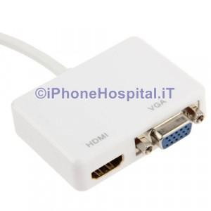 Convertitore Mini DisplayPort a HDMI & VGA