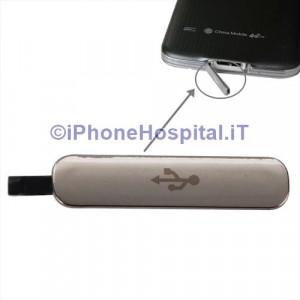 Coperchio Protezione Connettore di Ricarica USB Oro ( Gold ) Galaxy S5