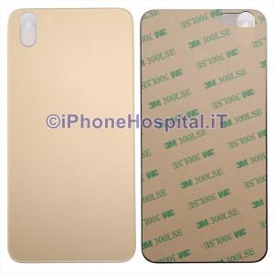 Copertura Posteriore Coperchio Retro della Batteria in Vetro per Apple iPhone X Oro (Gold)