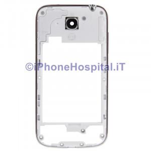 Cornice Centrale per Samsung i9195 Galaxy S4 Mini middle plate Frame Tasti silver