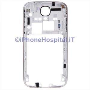 Cornice Centrale per Samsung i9505 Galaxy S4 middle plate Frame Tasti silver