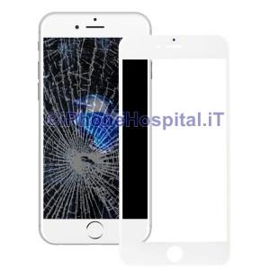 Cornice Frame con Vetro Anteriore e Foglio Oca per Apple iPhone 7 Plus Bianco