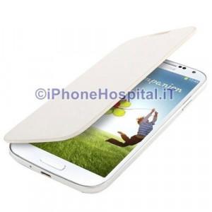 Cover Batteria Bianco con Flip Case per Samsung Galaxy S IV / i9500