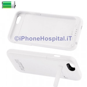 Cover Batteria Esterna 3200 mAh Power Bank Bianco per iPhone 6 4,7 ""