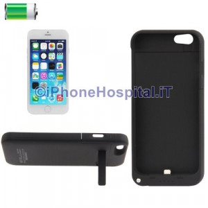 Cover Batteria Esterna 3200 mAh Power Bank Nero per iPhone 6 4,7 ""