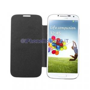Cover Batteria Nero con Flip Case per Samsung Galaxy S IV / i9500 /9505