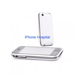 Color case  Bianco con bordo trasparente per iPhone 3G / 3GS