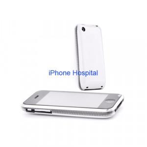 Color case  Bianco con bordo trasparente per iPhone 3G / 3GS