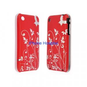 Color case Rosso con disegno in metallo e bordo trasparente