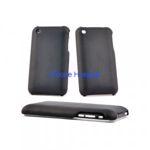 Color case Nero in finta pelle per iPhone 3G/3GS