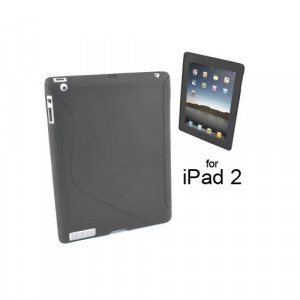 Custodia in silicone semi-rigido Ipad 2 Nero
