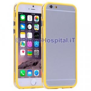 Custodia Bumper Giallo Bordo Trasparente per Apple iPhone 6 A1586