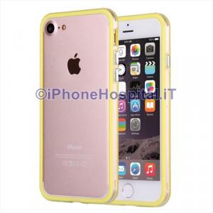 """Custodia Bumper  Giallo Bordo Trasparente per Apple iPhone 7Plus 5,5"""""""