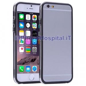 Custodia Bumper Nero Bordo Trasparente per Apple iPhone 6 A1586