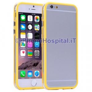 Custodia Bumper Trasparente Giallo per Apple iPhone 6 Plus e 6S Plus