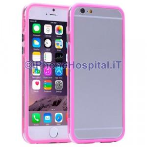 Custodia Bumper Trasparente Magenta per Apple iPhone 6 Plus e 6S Plus