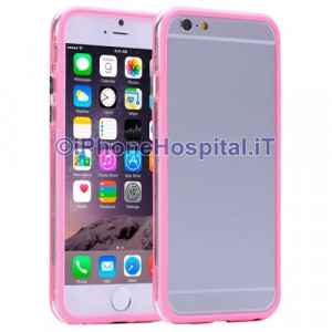 Custodia Bumper Trasparente Pink (Rosa) per Apple iPhone 6 Plus