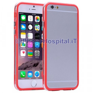 Custodia Bumper Trasparente Rosso per Apple iPhone 6 Plus e 6S Plus
