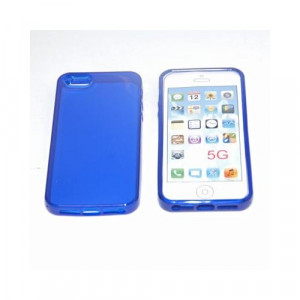 Custodia per Apple Iphone 5 Blue Trasparente