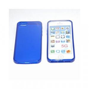 Custodia per Apple Iphone 5 Blue Trasparente