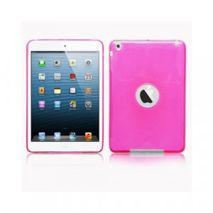 Custodia in silicone semi-rigido Ipad Mini Rosa trasparente