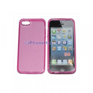 Custodia per Apple Iphone 5 Rosa Trasparente