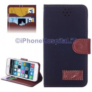 """Custodia Orizzontale con Slot Carte di Credito color Blue per Apple iPhone 6 ( 4,7"""")"""