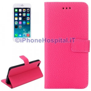 Custodia Orizzontale con Slot Carte di Credito color Magenta per iPhone 6 4,7""
