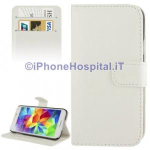 Custodia per Samsung Galaxy S5 / G900 con Supporto per Carte di Credito colore Bianco