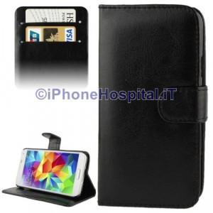 Custodia per Samsung Galaxy S5 / G900 con Supporto per Carte di Credito colore Nero