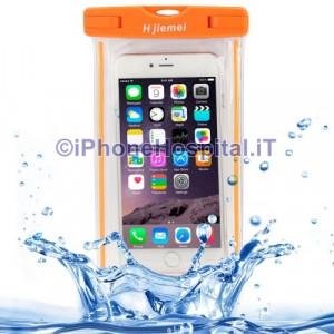 Custodia Protettiva Impermeabile per iPhone 6 Plus iPhone 6  5  5S 5C Arancio