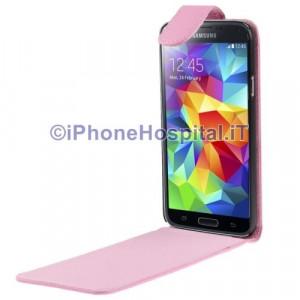 Custodia Verticale per Samsung Galaxy S5 / G900 colore Rosa