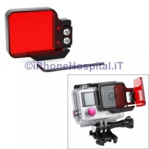 Filtro Luce Subaqueo Rosso per Gopro 4 & 3 +