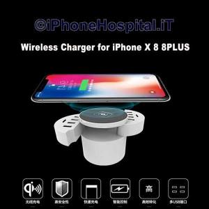 Caricatore Rapido Wireless Senza Fili Universale 10 Porte USB per Phone X
