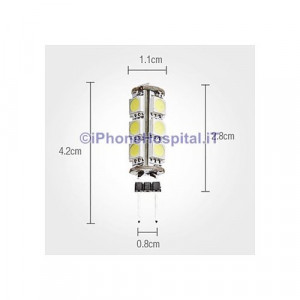 G4 2W 13x5050 SMD 160-180LM 6000-6500K Bianco Naturale lampadina LED Light Corn (12V)