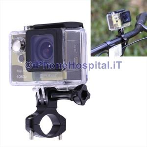 Supporto Alluminio Manubrio 18/24 mm per GoPro Hero Tutti i Modelli