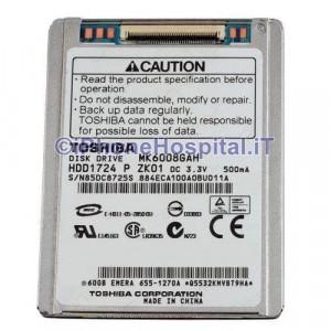 Hard Disk MK6008GAH 60GB ZIF PATA iPod Dell D420 D430 HP COMPAQ 2510P 2710P