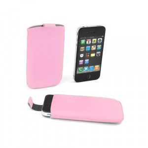 CUSTODIA A SACCHETTO IPHONE 4 ROSA