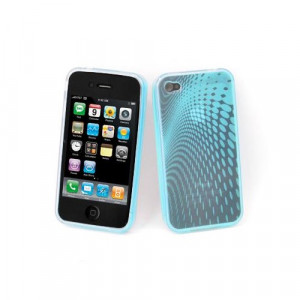 Custodia in silicone semi-rigido Iphone 4G Azurro