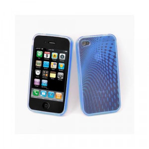 Custodia in silicone semi-rigido Iphone 4G Blu