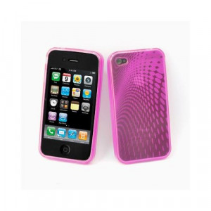 Custodia in silicone semi-rigido Iphone 4G Fucsia