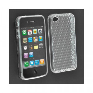 Custodia in silicone semi-rigido Iphone 4G Trasparente