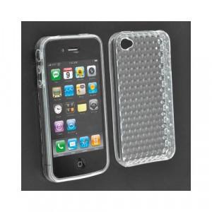 Custodia in silicone semi-rigido Iphone 4G Trasparente