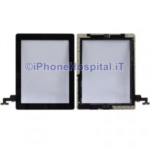iPad 2 Touch Screen Nero Assemblato Alta Qualita'