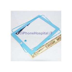 iPad 4 Touch Screen Azzurro Completo di Tasto Home Cornice e Adesivi Incollaggio