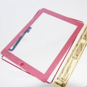 iPad 4 Touch Screen Rosa Completo di Tasto Home Cornice e Adesivi Incollaggio
