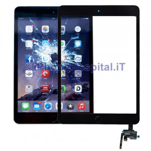 iPad Mini 3 Touch Screen Nero Assemblato con Tasto Home
