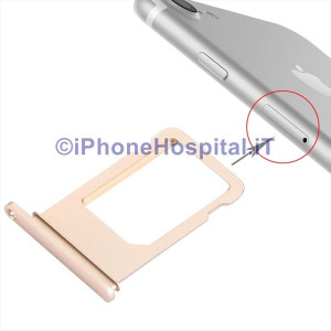 Porta Nano Sim per Apple iPhone 7 A1660, A1780, A1778, A1779 Color Oro (Gold)