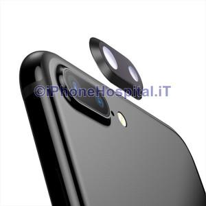 Lente Anello Vetro Vetrino Obbiettivo Camera Fotocamera per Apple iPhone 8P Nero